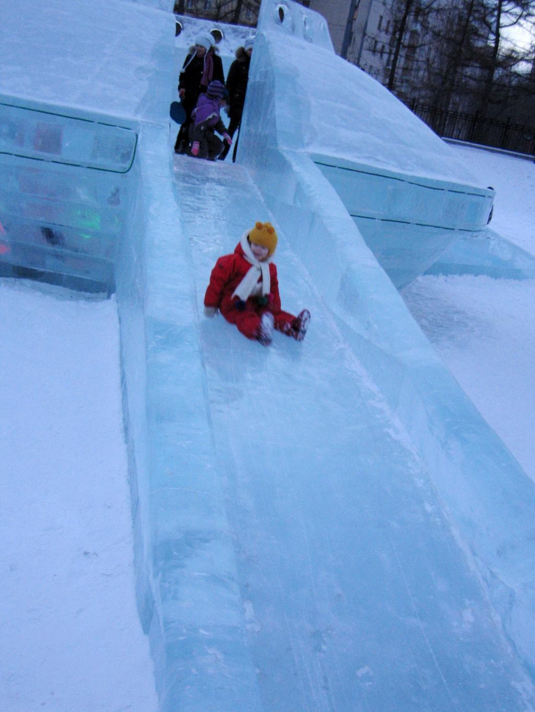 Ледяные горки своими руками 868