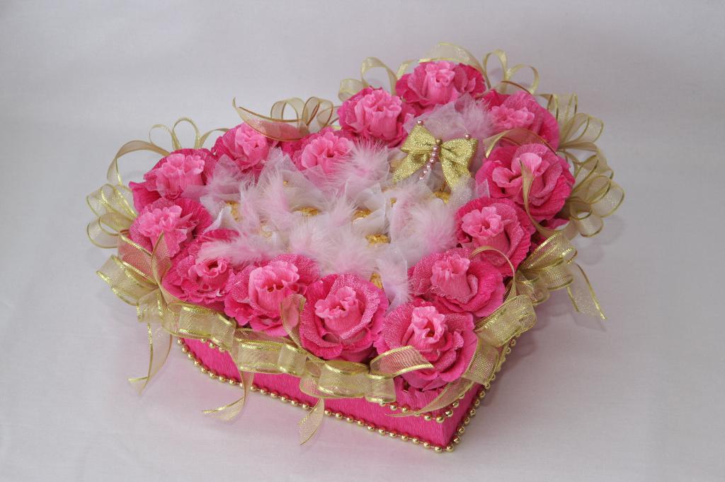 Сладкий букет из конфет своими руками на свадьбу 15