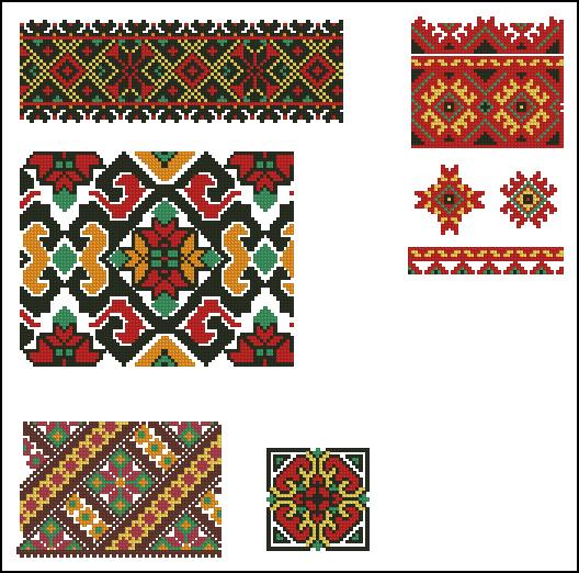 Этнический узор для вышивки 189