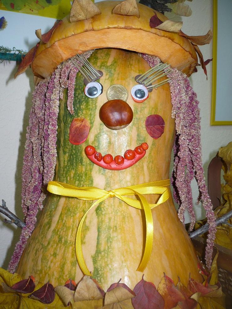 Поделка весёлый овощ