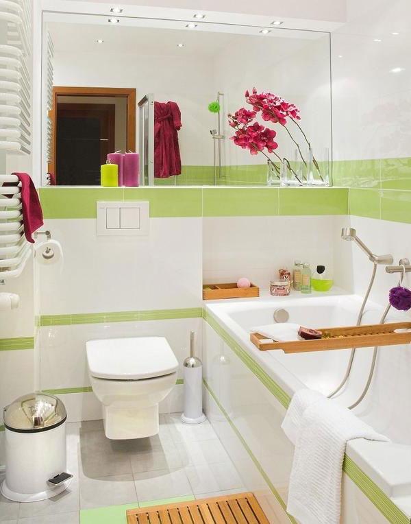 Интерьер маленькой ванной комнаты дизайн