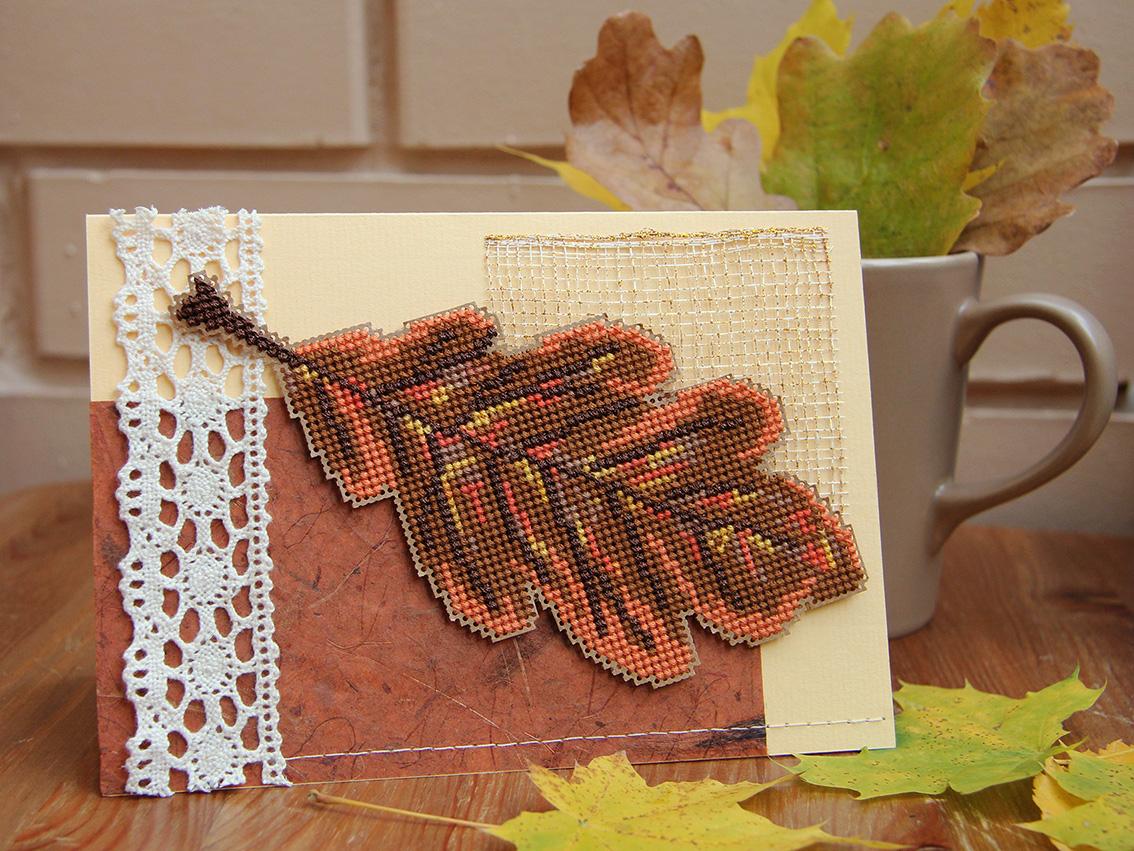 Осенние открытки своими руками фото