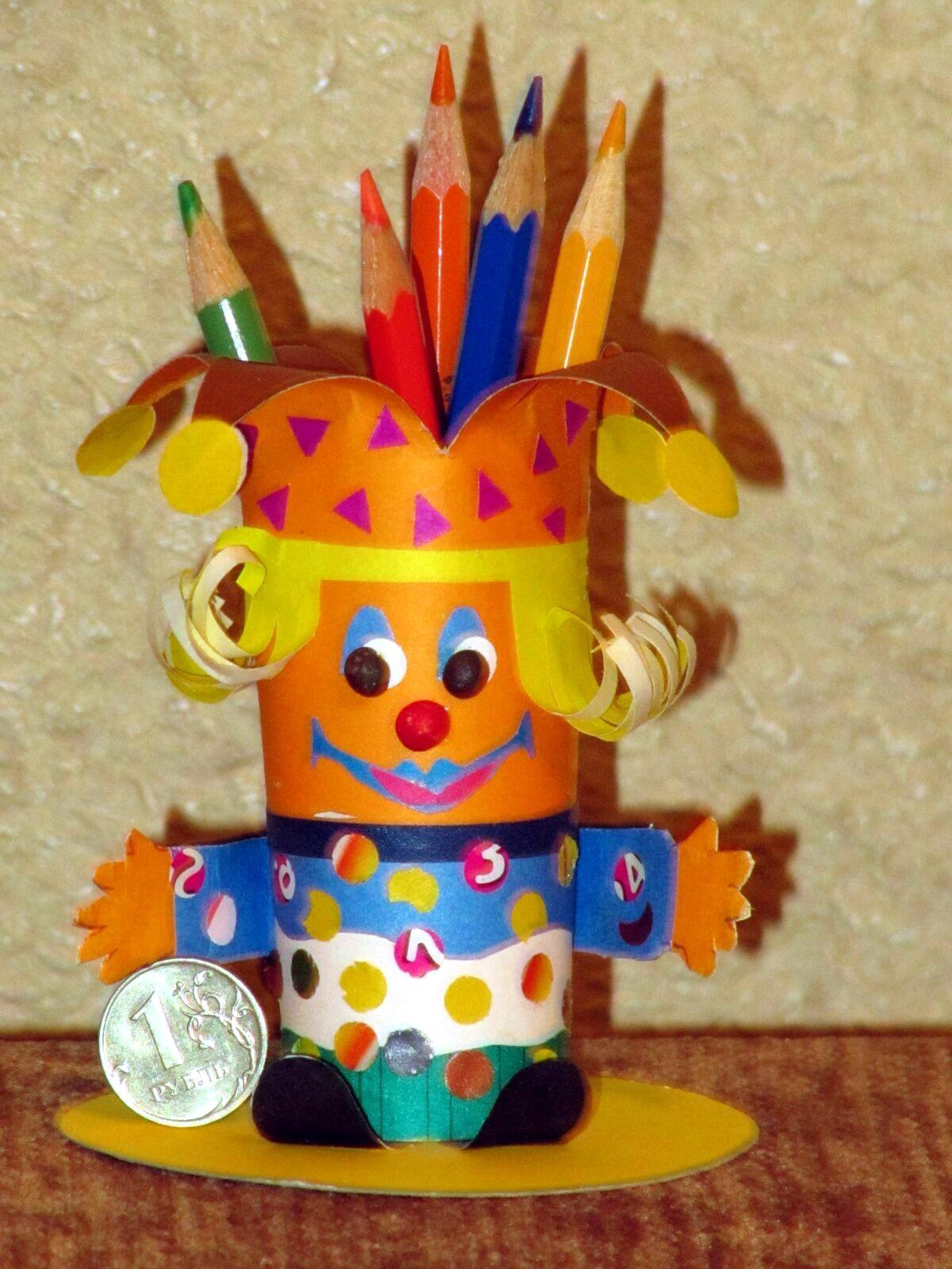 Как сделать клоуна из бумаги своими руками, мастер класс, схема
