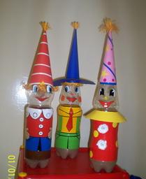 Сказочные персонажи из пластиковых бутылок своими руками