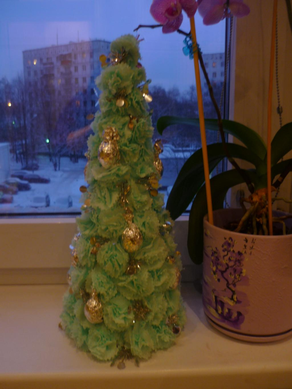 Изготовление новогодней елки своими руками фото