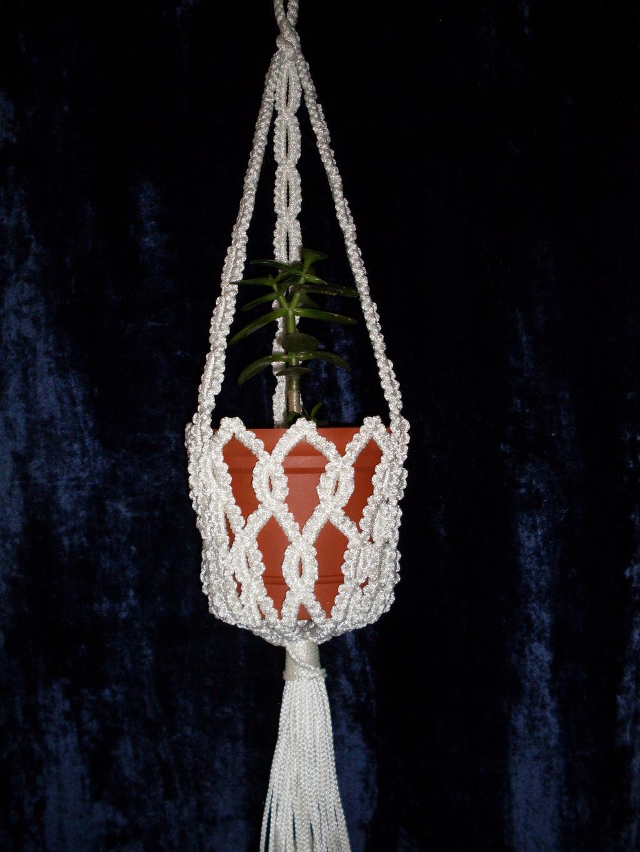 Кашпо из ниток для цветов своими руками фото