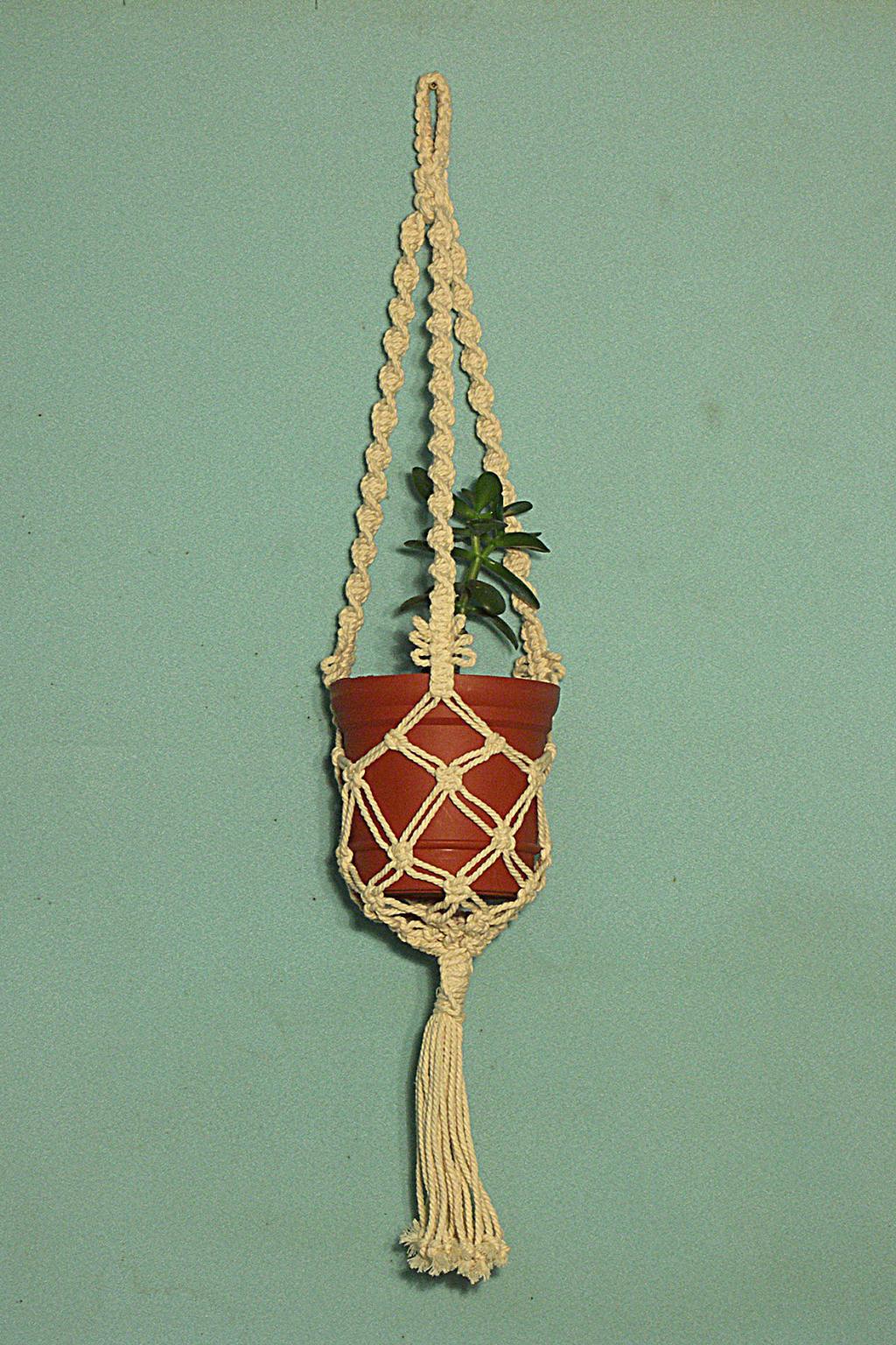 Плетение кашпо для цветов своими руками для начинающих