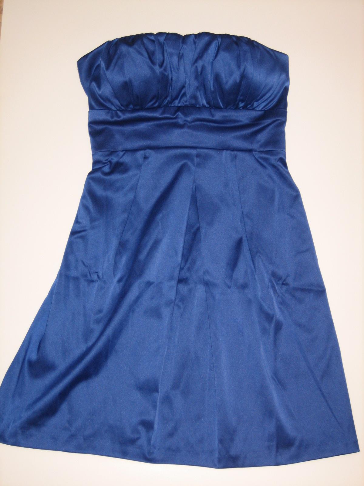 Синее маленькое платье
