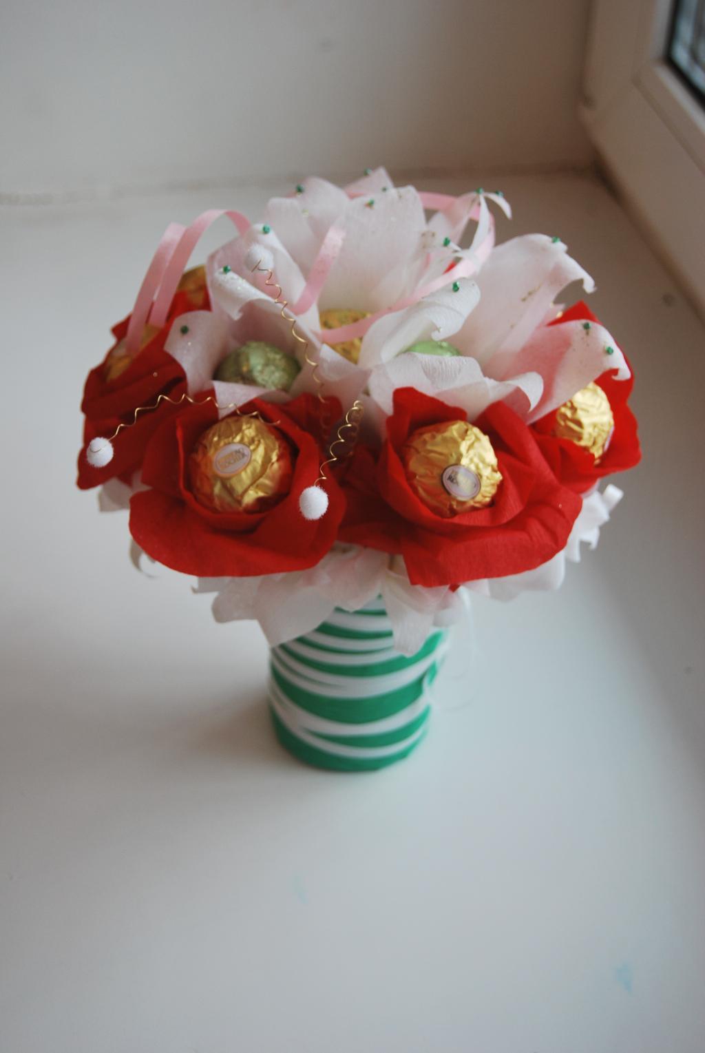 Букет оригинальный из конфет своими руками