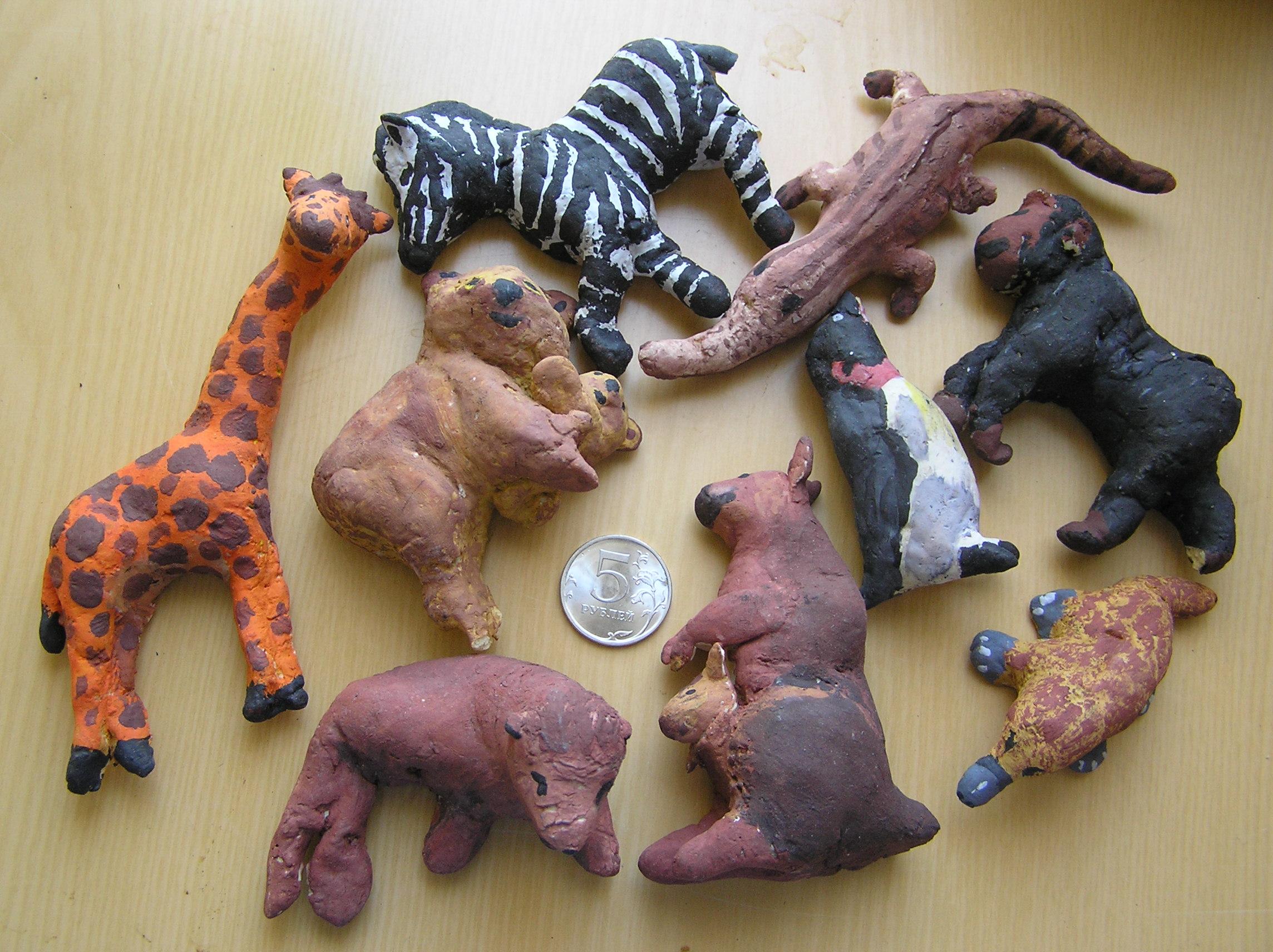 Животные пластилина фото 2