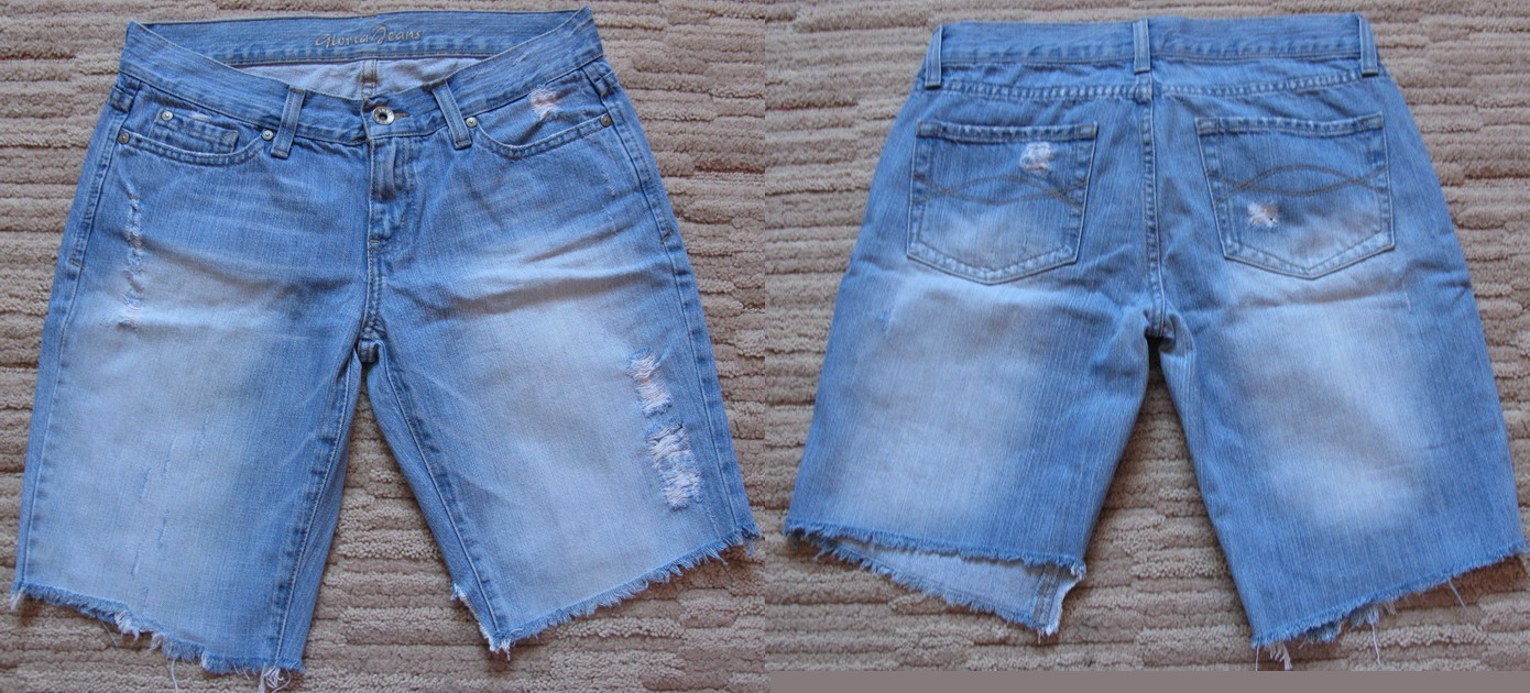 Как сделать бриджи из джинс своими руками мужские