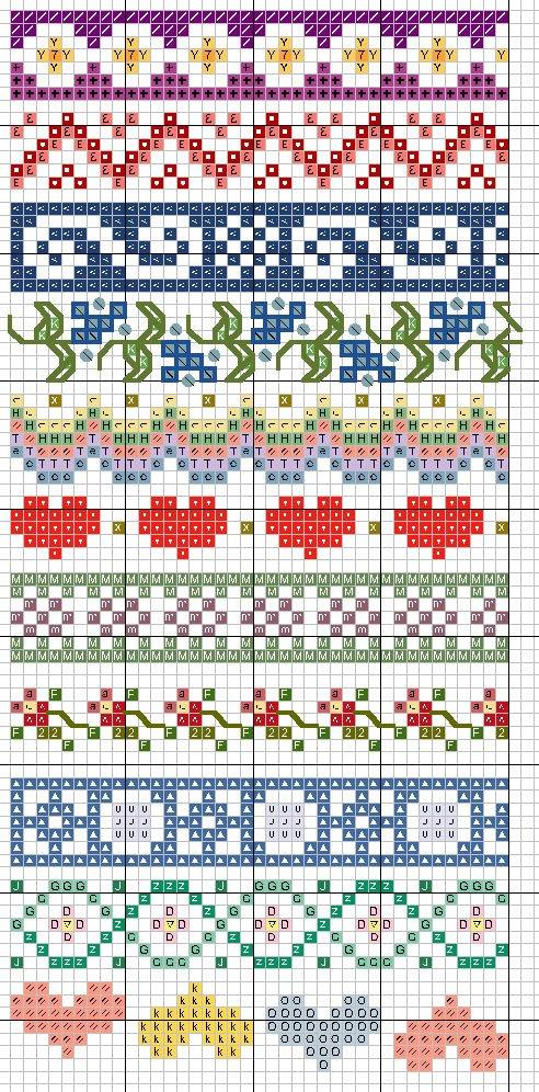 Узоры орнаменты для вышивок крестом