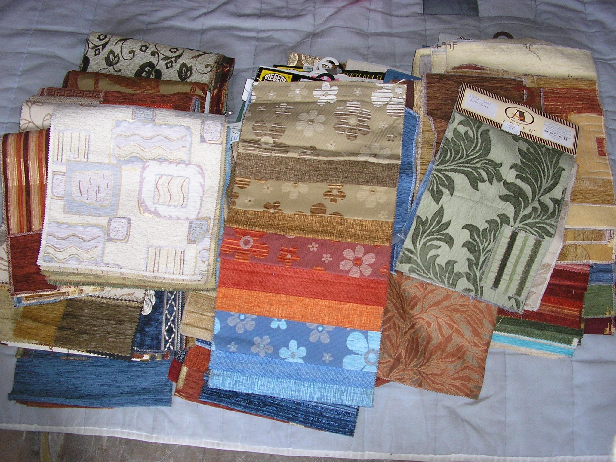 Поделки из мебельных тканей