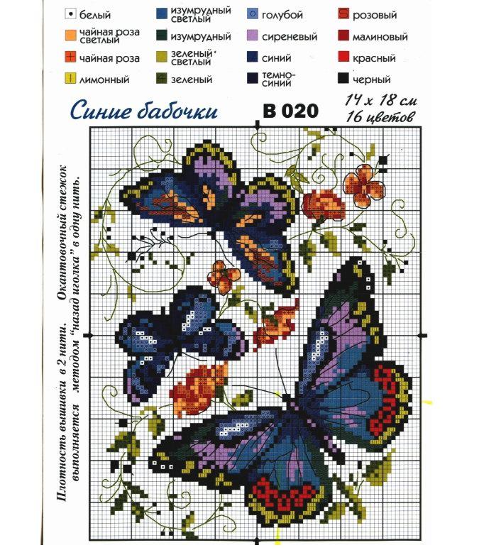 Схема для вышивки 4 цвета