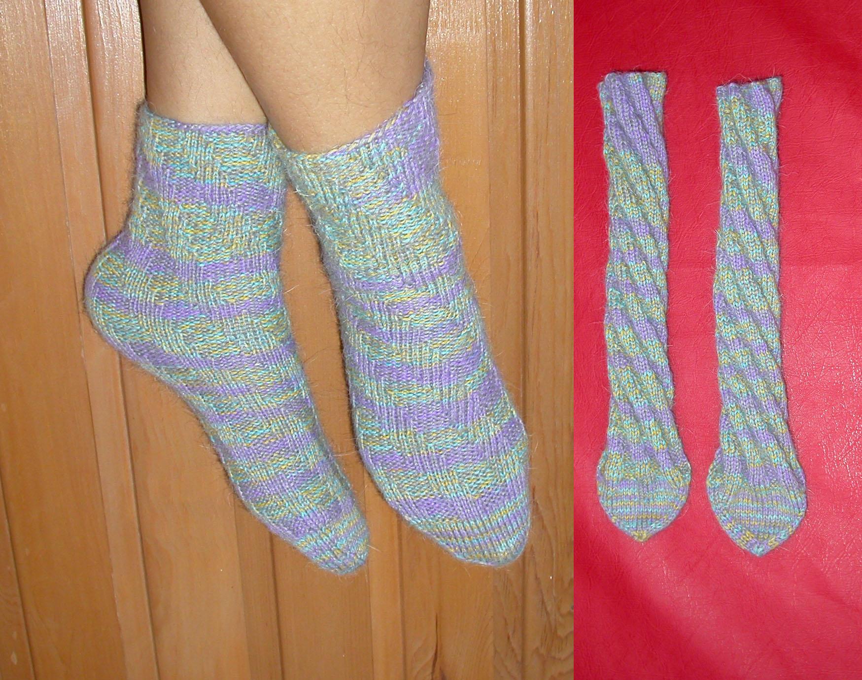 Как вязать носки тапочки следки спицами видео 45