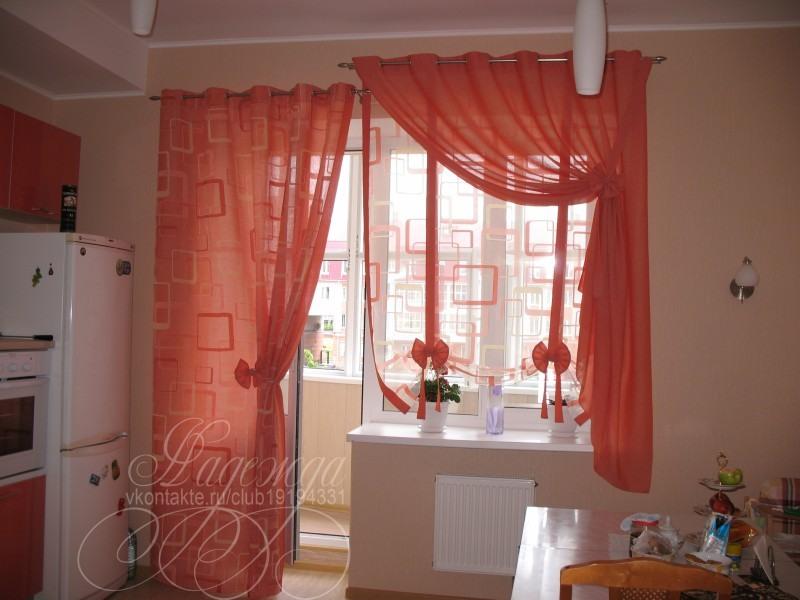 Декор штор для кухни фото