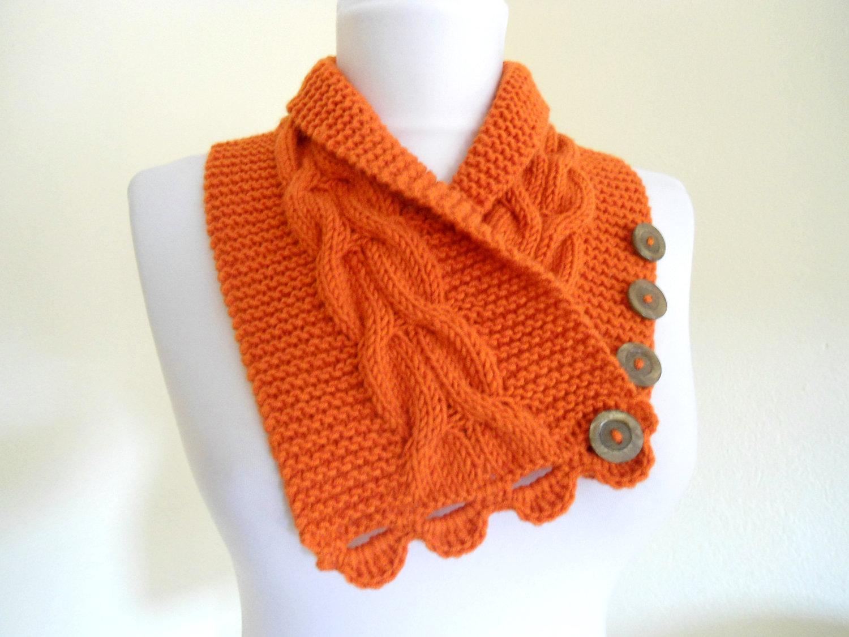 Воротник-шарф для вязания спицами 645