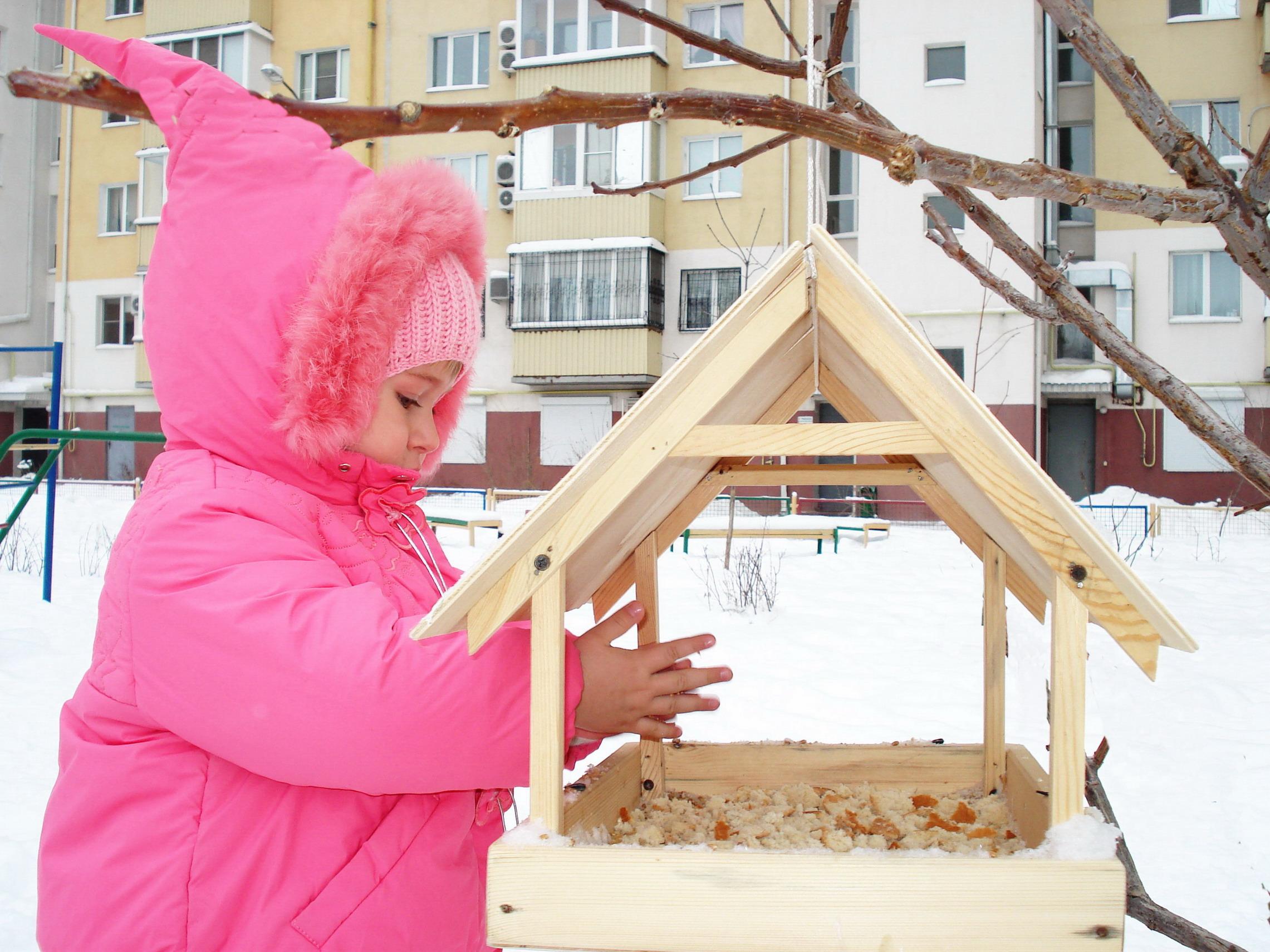 Кормушка для птиц дети