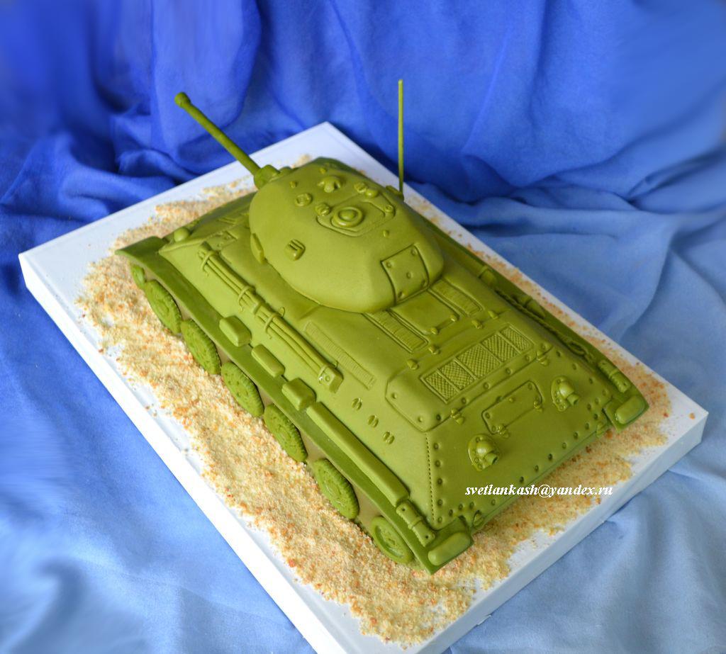 Торт с мастикой своими руками танк из 634