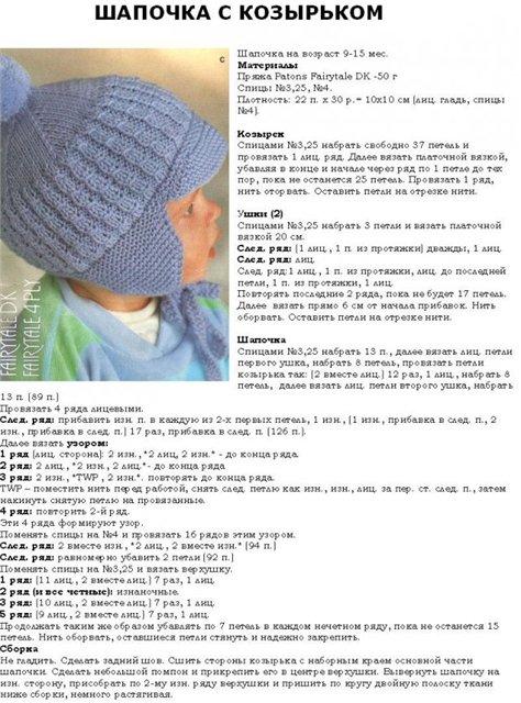 Как связать шапку спицами для начинающих детская