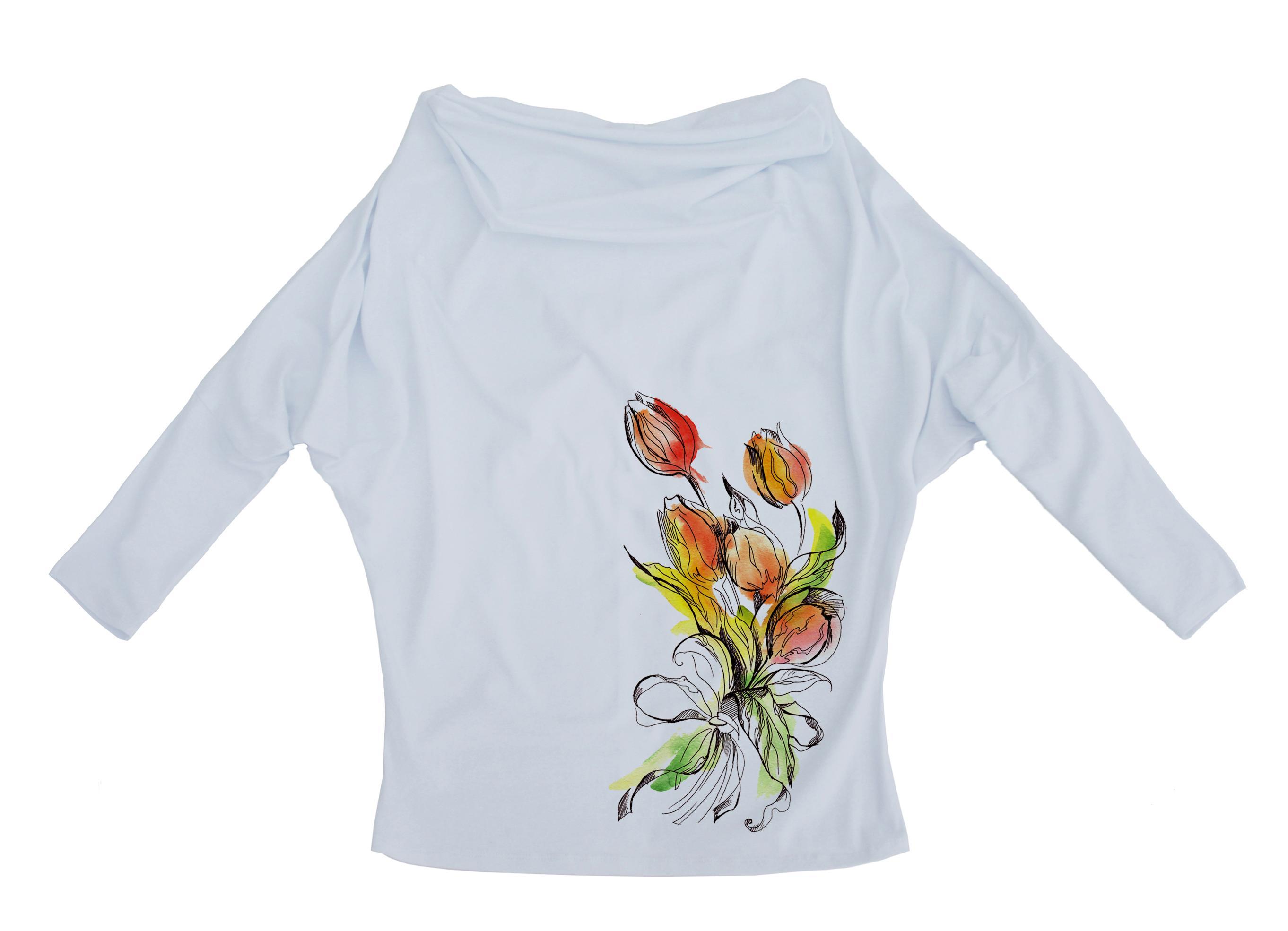 Трикотажные блузки белые