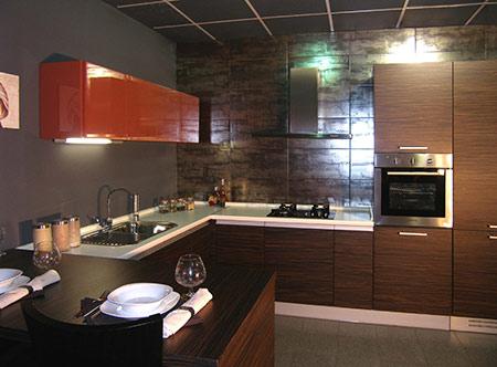 Фасады натуральный шпон для кухни