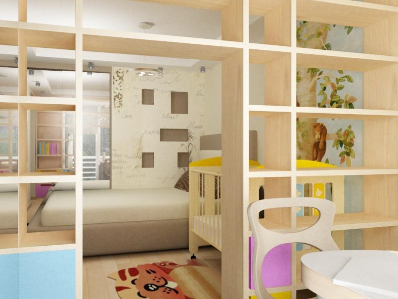 Как в одной комнате сделать и детскую и спальню