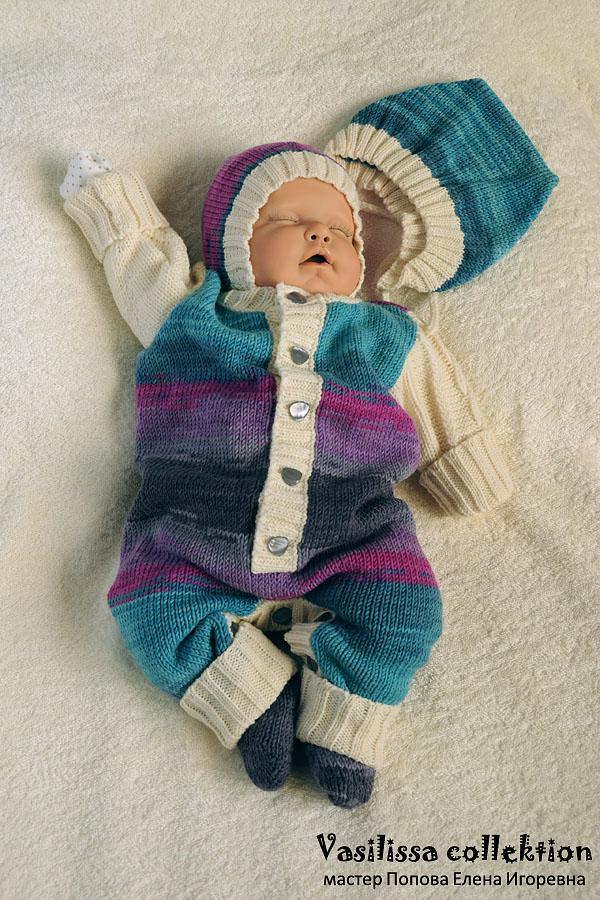 Вязание для новорождённых на осинке 913