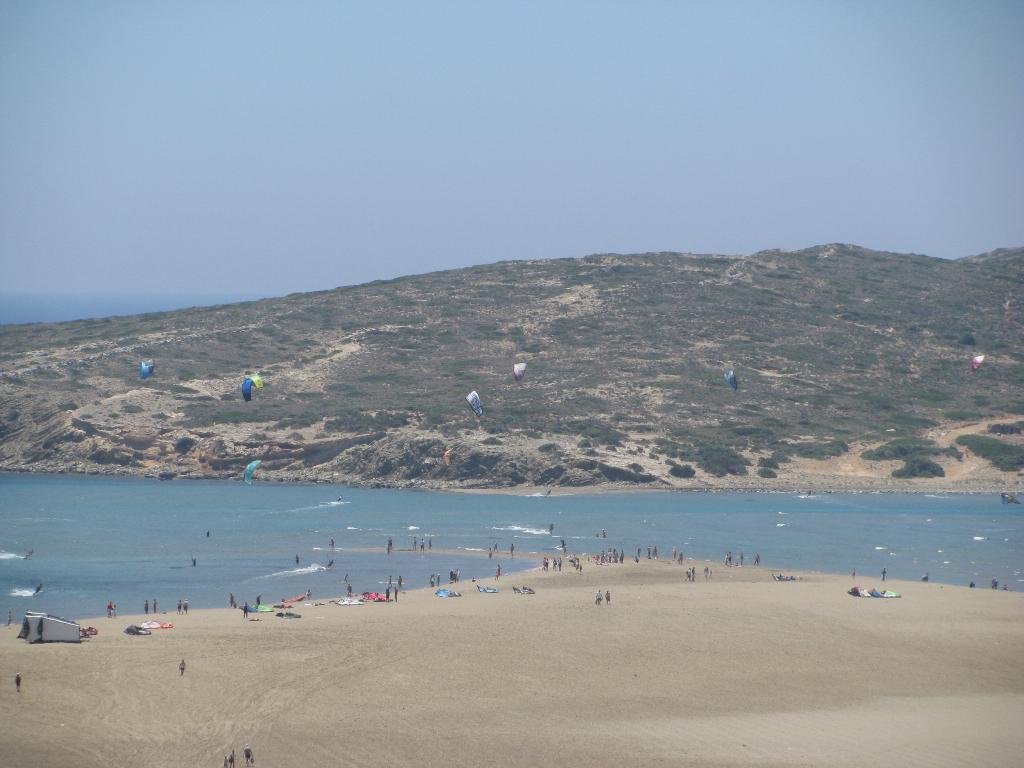 Место слияния Эгейского и Средиземного моря на Родосе