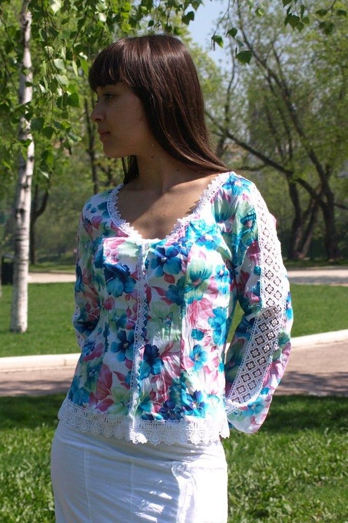 Летняя Блузка Из Батиста