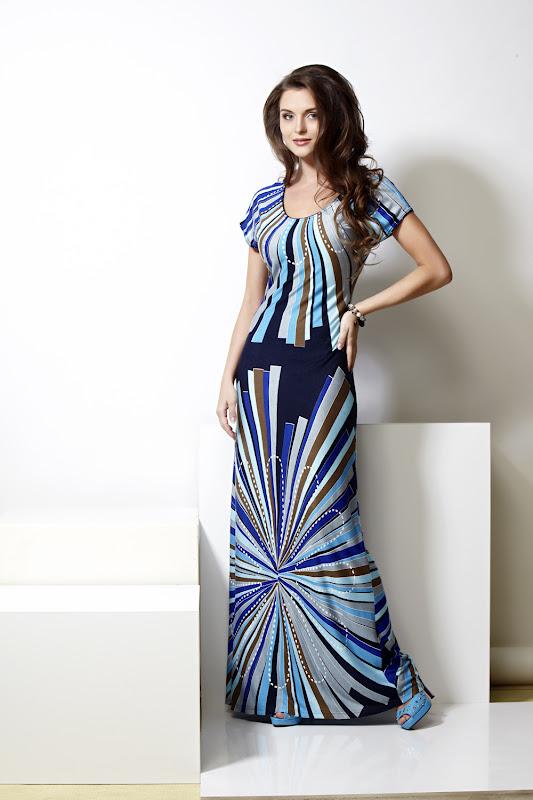 Платье трикотажное длинное летнее