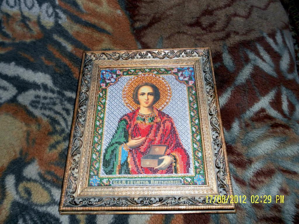 Святой Великомученик и Целитель Пантелеимон. Оформленные