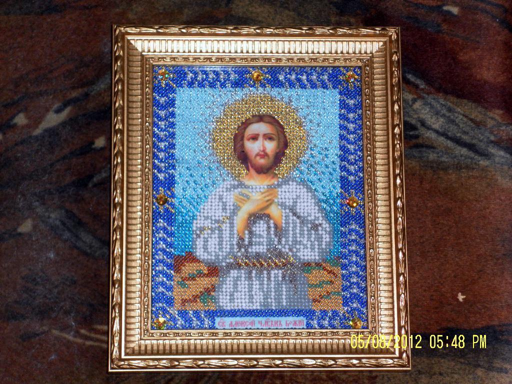 Икона Святой Алексей -человек Божий. Оформленные