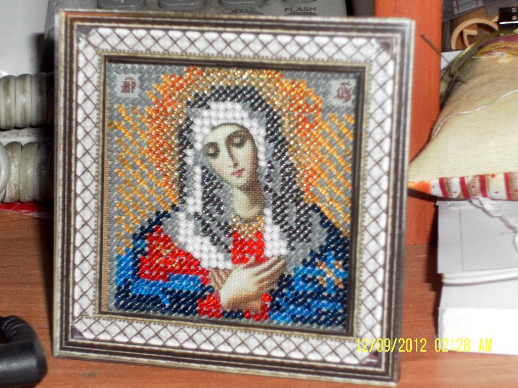 Икона    «Умиление Богородица». Оформленные