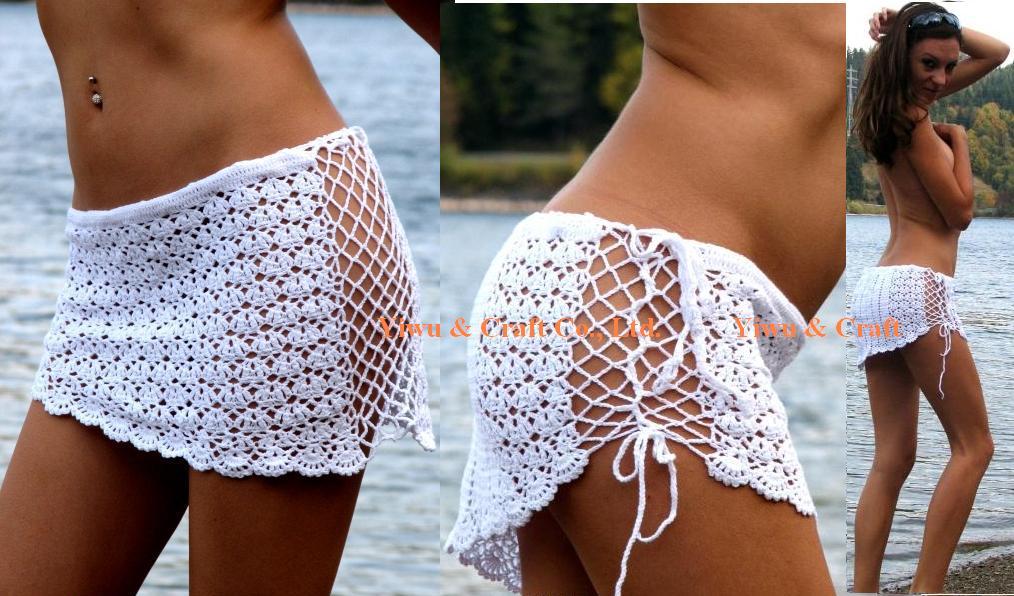 Вязание крючком пляжных юбок