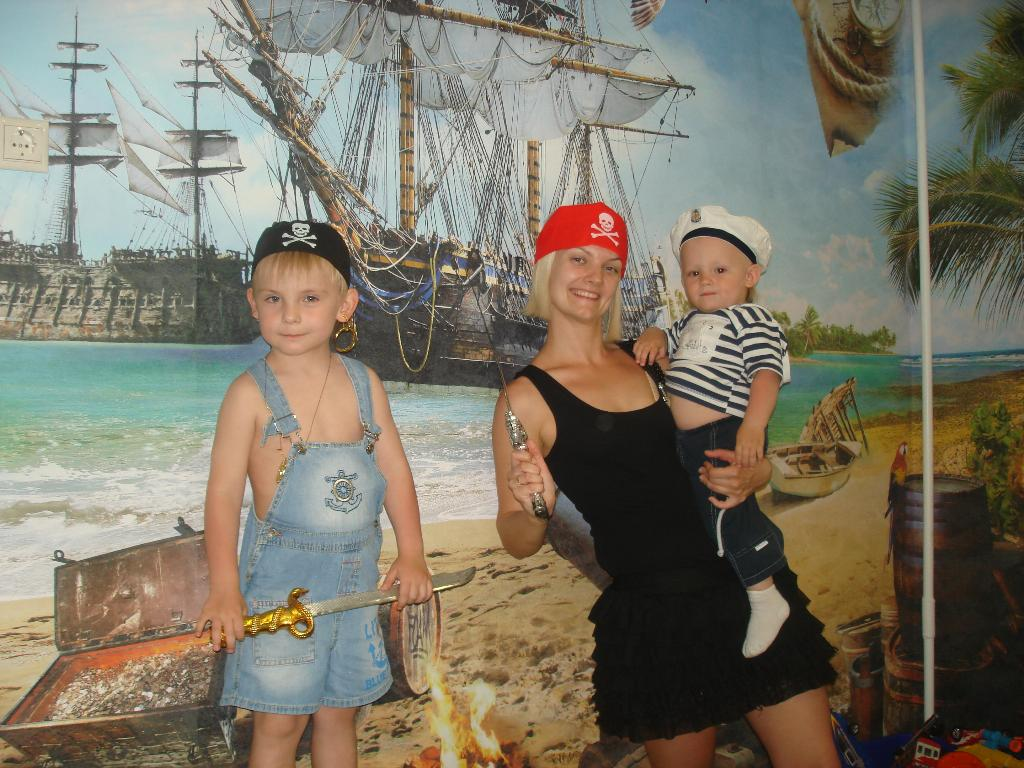 играем в Пиратов всей семьей. Мужские игры