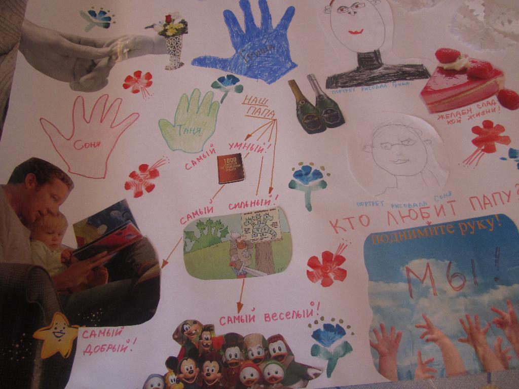 Плакаты на день рождения папы своими руками фото