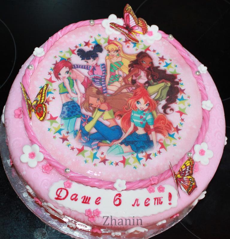 торт с винксами фото
