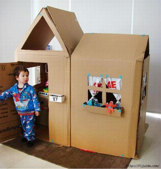 Как сделать дом из коробки