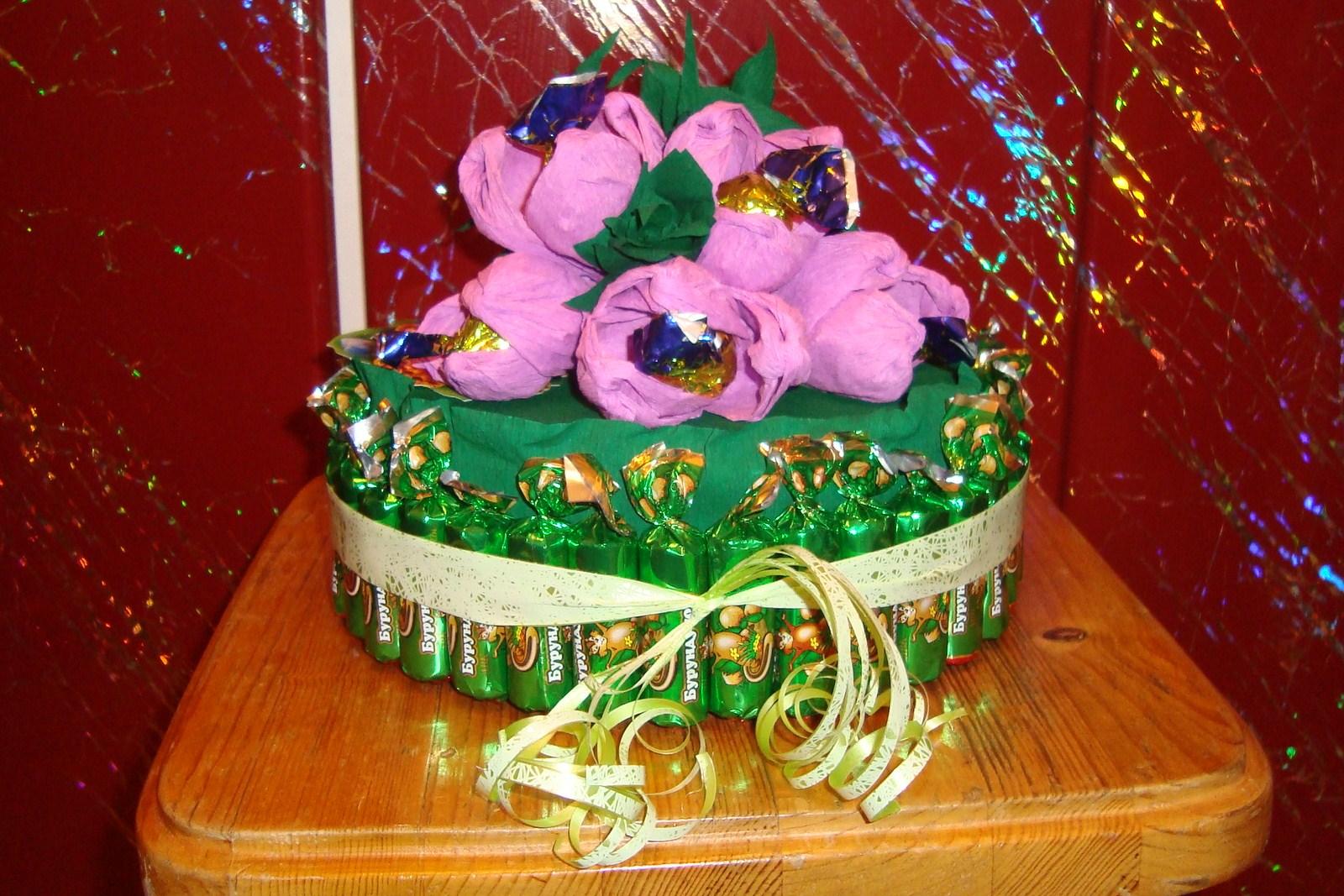 Торт из конфет своими руками: мастер