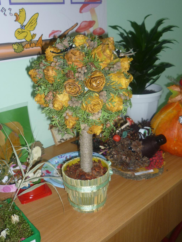 Фото на осень поделки в горшке
