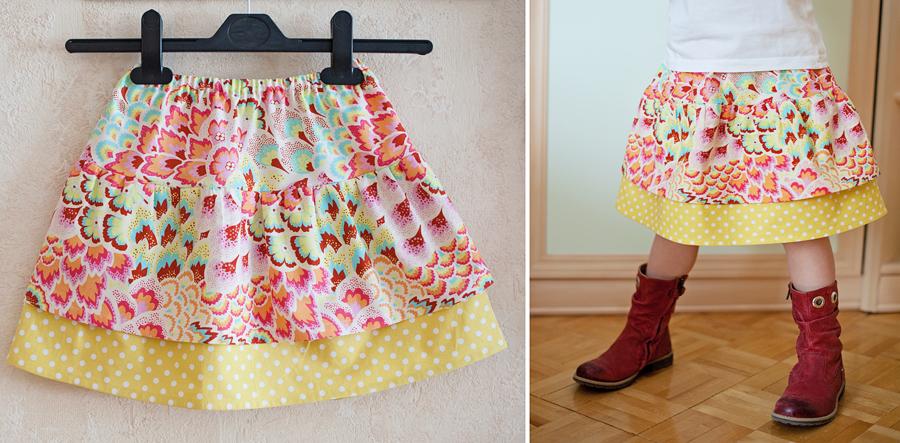 Сшить юбку для девочки своими руками без выкройки 56