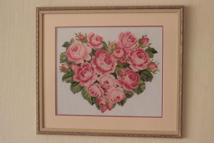 сердце из роз для моей Светланки). Оформленные