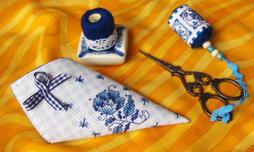 Вышивка чехлов для ножниц своими руками