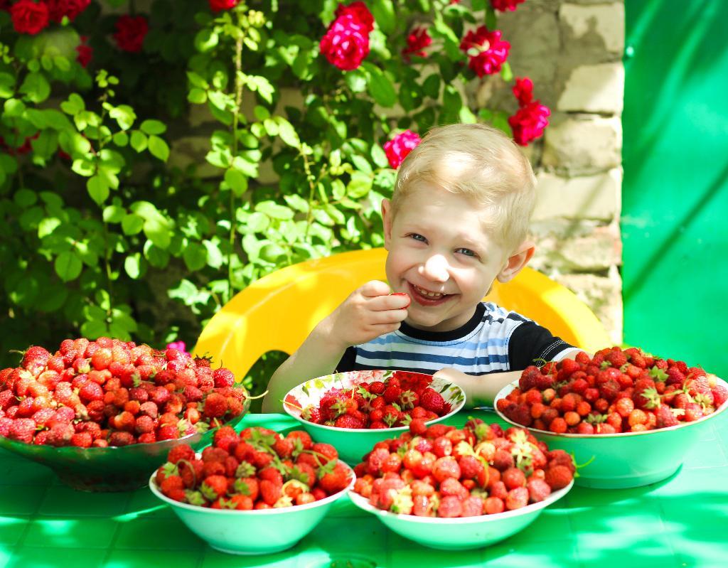дети с ягодами