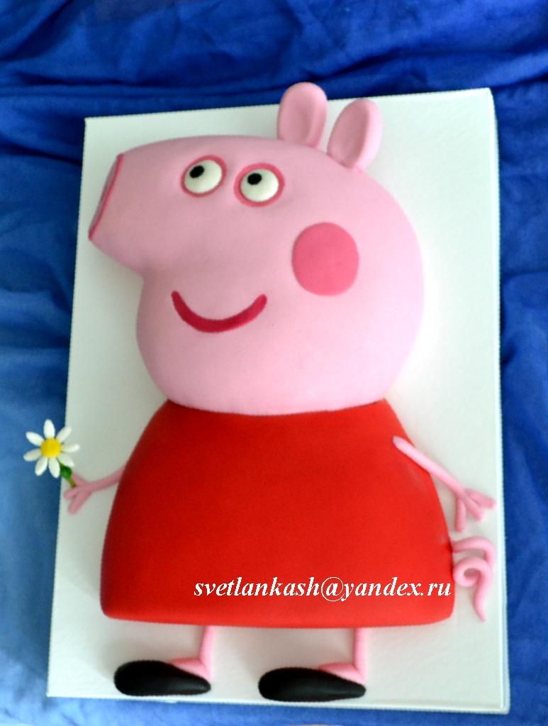Как сделать торт свинка пеппа своими руками 59