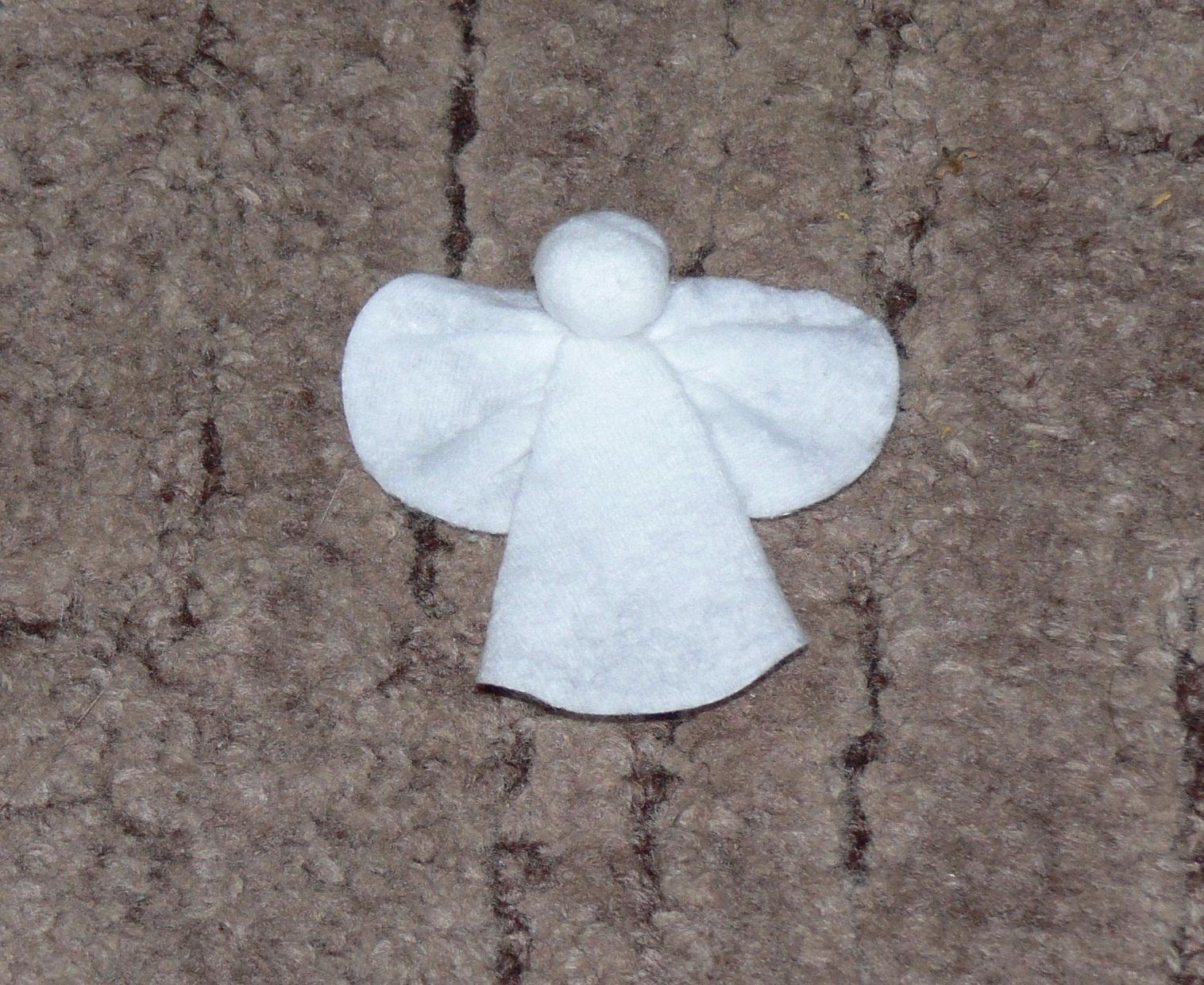 Ангелочки из ватных дисков своими руками 50