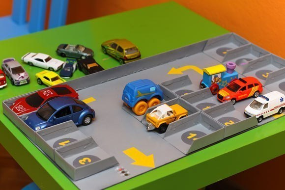 Как из картона сделать парковку для машинок