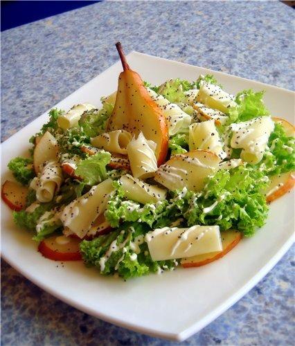 Салаты из груши рецепты с