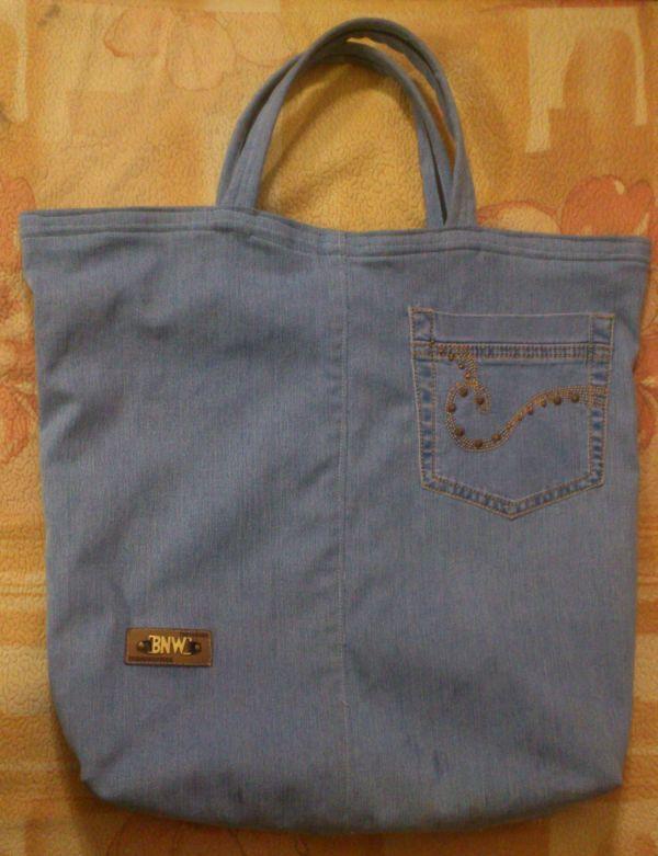 Как сшить сумку из старых джинсов хозяйственную